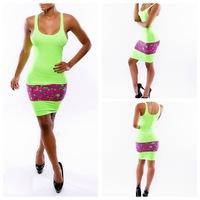 Dream Kai nightclub multicolor one-piece eBay aliexpress sexy dress YH9055 explosion