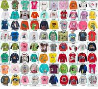 Hundreds of Models children boy girls cotton long sleeve tops tee for baby kids full sleeve T-shirt autumn clothing Free ship