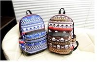 Free Shipping 2014 wholesale Boy girl Canvas backpack back bag for Children Cartoon Skeleton Punk Backpacks School travel bags