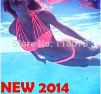 2014 European new style high waisted swimwear women push up bathing suit tops biquinis women brazilian vintage triangle bikini