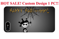 Cute Cartoon Skeleton Halloween theme pattern protective cover sleeve cases for iphone 4 4S 5 5S 5G 5C