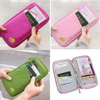 Women Men's Unisex ID Travel Key Coins Wallet Holder Passport bag cover Zipper multi-function purse credit card