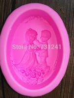 Design 324 Love Couples Wedding  3D Cake Fondant  Mold,Soap Mold, Cake Decoration Tool