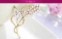 New Fashion New Shining Gold Wedding Broocches For Women Men Rhinestone Heart LOVE Brooch Pin Free Shipping