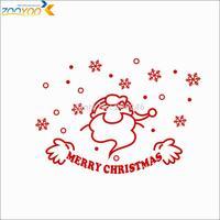 Santa Claus father christmas wall stickers 2014 new arrive zooyooxmas18 poinsettia wall decor Christmas present vinyl wall decal