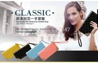 Free shipping, wholesale brand new summer 2014 ms han edition wallet fashion ladies' bag long hand in kara chain bag purse