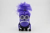 New Despicable Me 2 Purple Minions Speaker With Wig support U-disk TF card FM  audio player Pefect Carton mini speaker 300PCS