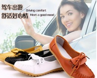New  Women Genuine Leather  Shoes Moccasins Women's Soft Leisure Flats Female Driving Shoe Flat Loafers