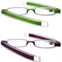 Folding Slim Mini Flexible TR90 Frame Reading Glasses Spectacles Reader Eyeglass Eyewear 1.0 1.5 2.0 2.5 3.0 3.5 4.0 Purple  NEW