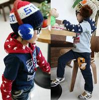 Size100~140 New autumn winter children fleece outerwear kids coats boys hooded jackets child hoodies hbxbk