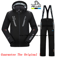 2014 Tops Polo Snowboard Autumn Winter Casual Dress Clothing Set  Pelliot Skiing Snow Ski Suits Jacket Coat Pants Men Sportswear