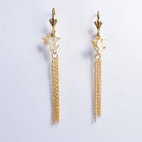 2014 Fashion Women's Titanium Steel Gold Angel Tassel  Drop Earrings Cute Earrings