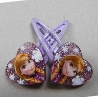 5 pairs/lot new hot Girls baby movie frozen princess Anna Elsa  Elastic hairpins clips