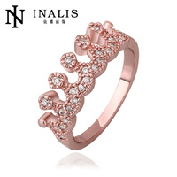 European style fashion rings wholesale high-end fine jewelry 18K creative crown ring multicolor optional mixed batch