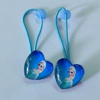 6 pairs/lot Girls baby movie frozen princess Anna Elsa  Elastic hair bands hair tie bow clip