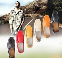 2014 Free shipping brand men loafers men platform moccasins men flat leather doug shoes slip on driving shoes 6 colors