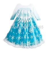Pre-SaleGirls Summer Dress 2014 Vestido Elsa Frozen vestido de festa longo 2014 party dresses for girls