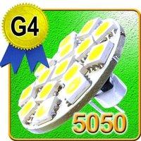 Lot 50 pieces Cool White / Warm White 12V 24V AC DC Back Pin G4 LED Light Bulb 15 x 5050SMDs 8-30V AC DC
