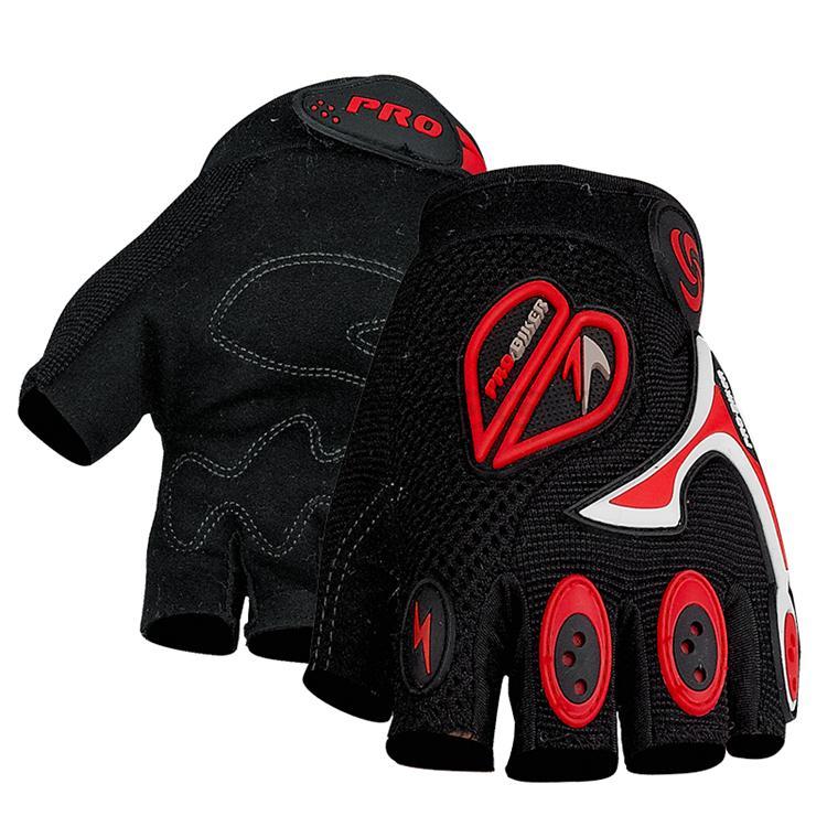 Free sample ! PRO-BIKER Summer Bike Bicycle Antiskid Cycling half Finger Gloves Luvas Motocros ...