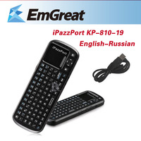iPazzport KP-810-19 2.4GHz Touchpad Fly Air Mouse English Russian Wireless Keyboard Gaming Smart TV BOX Android Tablet P0010474