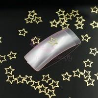 500pcs/LOT 5mm Hollow Star Golden Metal Slice Salon Nail Art Acrylic False Tips Craft Case 3D DIY Design Decorations Accessories