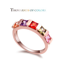 2014 new summer class AAA hand inlaid CZ rings -- empty fashion ring hand jewelry wholesale