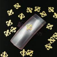 500pcs/LOT 6X5MM Golden Metal Slice Punk Rock 3D DIY Design Decorations Salon Nail Art Craft Case Cover Decor Accessories