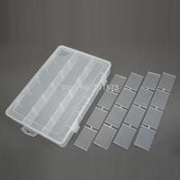 2014 New Durable Pliable 18-section Detachable Multifunction Component Box Non-toxic Transparent