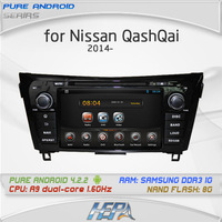 HEPA Pure Android 4.2 A10 chipset car DVD for NISSAN QashQai X-Trail 2014 with multi-touch screen Free map