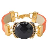 B0143566GO   New Beautiful Male Female PU bracelets, leather bracelets bangles  wholesale Free Shipping