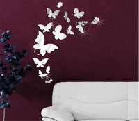 Creative fashion butterfly mirror wall stickers TV backdrop of high-grade acrylic simple three-dimensional wall stickers