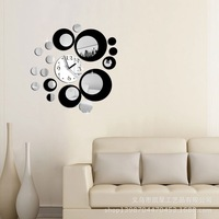 Creative home selling DIY background mirror wall stickers decorative wall clock round Acrylic Art