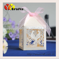 Laser cut wedding gift Boxes,wedding Souvenirs Boxes with ribbon from YOYO crafts