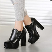 Free shipping  new fashion Martin high-heeled boots muffin thick crust Comfortable heel women boots