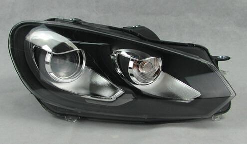 Golf 6 GTI Headlights Headlight assembly for VW Golf 6 GTI headlight modified version of bifocal lens xenon headlights(China (Mainland))