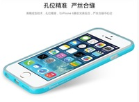 2014 Bright Color Silicone Tranparent Protectivce Case Cover for iPhone 6 Good quality SilmProtective coer 4 apple 6