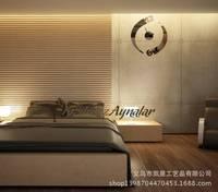 [ AliExpress Taobao supply ] three-dimensional acrylic crystal mirror decorative mirror wall stickers living room bedroom wall s