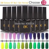 BK Soak Off UV Shellac Nail Gel Polish,Long Lasting 300 Gorgeous Colors Primer Lacquer(10 Color Gel+1Base+1Top Coat) Nail Kit