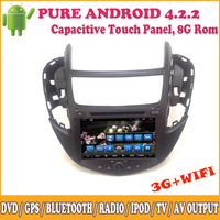 Pure Android In Dash Double Din For Chevrolet Trax 2014 Support SWC Bluetooth 3G Wifi Touch Screen Dual Core Car Receiver