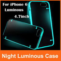 "10pcs/lot Light Glow In the Dark Night Luminous Transparent Case Cover For iPhone 6 4.7"" & For iPhone 6 Plus 5.5inch"