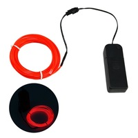 Zitrades&reg 15FT Red 4 modes Battery Operated Neon Glowing Strobing Electroluminescent Wires,EL Wire
