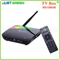 CS968 Quad Core Google Android 4.4 Smart TV Box WIFI 2G 8G RK3188 Full HD1080P Camera 2MP Remote Control RJ45 Play Store XBMC 3D