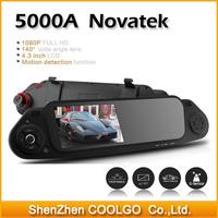 5000A FHD 1080P BLACKVIEW car DVR Rearview Mirror Camera Recorder DVR 4.3' TFT LCD 140 degrees wide lens + G-sensor