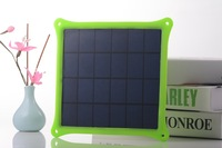 4w Solar Power bank Portable Waterproof  USB LED Backup External   solar panel for iPad iPhone 5s Samsung HTC
