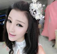 Lovely Handmade MINI Full Circle Round Hair Crown Rhinestone Crystal Tiaras for Party Bridal Wedding