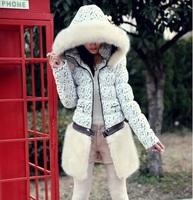 free ship winter women coat 2014 new brand fashion jacket luxury raccoon fur collar overcoat warm thicken down-cotton slim parka