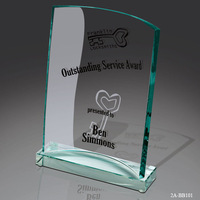 best selling new design high quality jade glass plaque award Sekhon Glass plaque Award for sports events