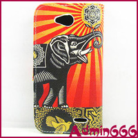 Case For LG L90 D410 New Pigeon Peace Dove With Elephants Luxury Leather Flip Stand Case Cover Skin For LG L90 D410