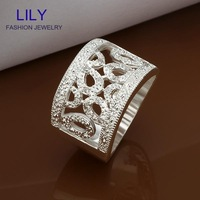 R309 Engagement Ring Women Jewelry Clear Zircon Finger Rings 925 Silver Fashion Jewelry Christmas Gift Wholesale