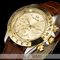 Nice Yellow Gold Men's Automatic Mechanical Calendar Mens Dress Watches Men 2014
